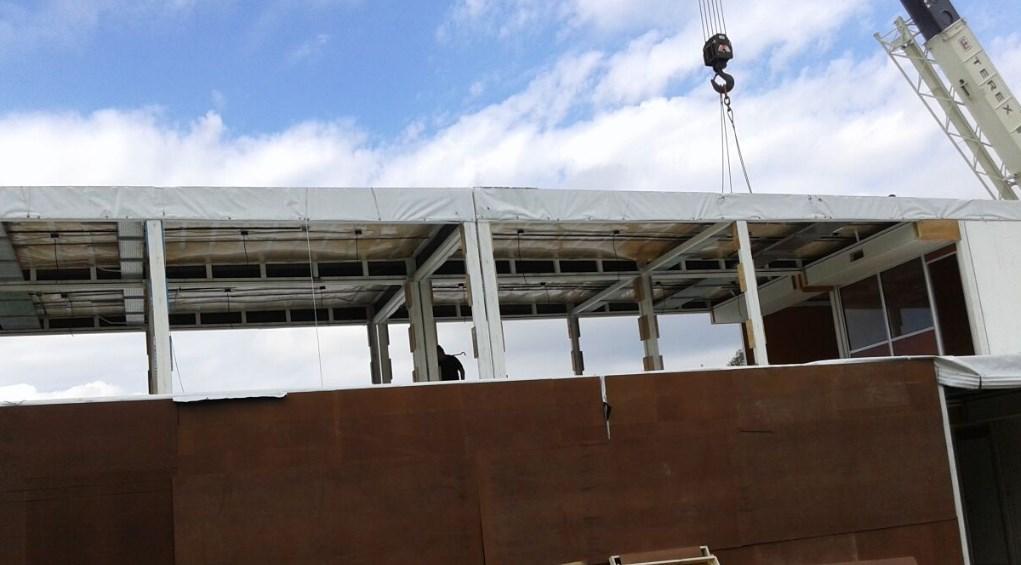 Construcción del edificio para la Sala de Control, AESA