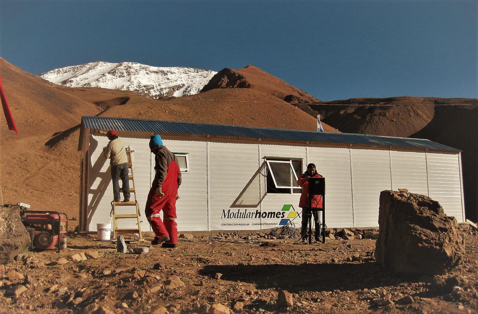 Refugio en la Cordillera de los Andes