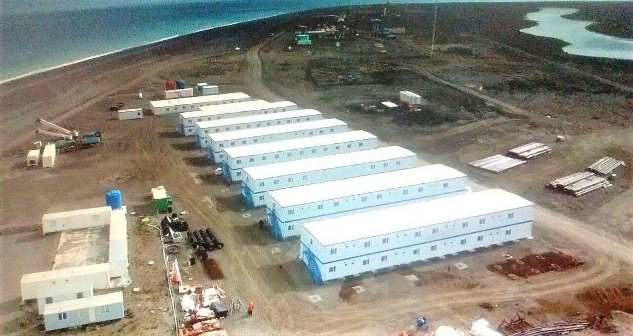 Campamento para 500 personas en Magallanes, Cabo Vírgenes
