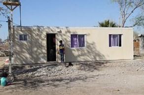 San Juan: Instalan los primeros módulos habitacionales