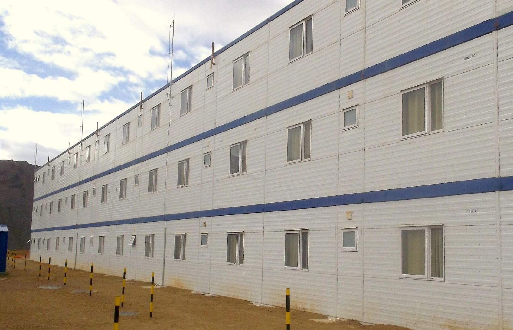 Pascua Lama, edificios para dormitorios.